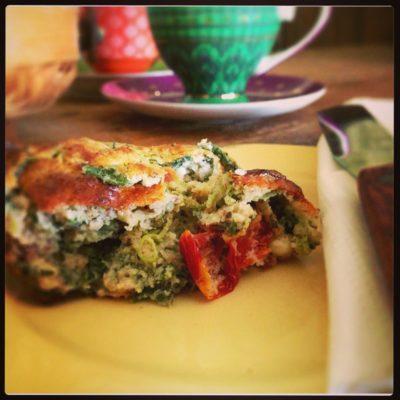 Spinach, Feta & Sun-Dried Tomato Muffins
