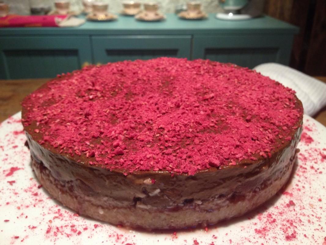 Chocolate Cherry Superfood Pie